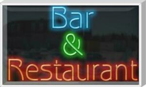 Outdoor Bar Restaurant Neon Sign Outdoor Jantec 37 Wide X 22 High