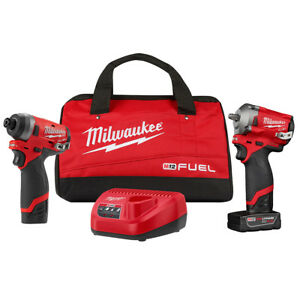 Milwaukee 2599 22 M12 Fuel 1 4 Impact Driver 3 8 Impact Wrench Kit