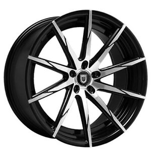 20 Staggered Wheels And Tires Lexani Css 15 Black Machined