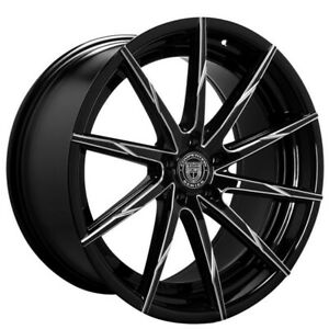 20 Staggered Wheels And Tires Lexani Css 15 Gloss Black Milled