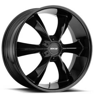Qty4 20 Mkw Wheels M119 Gloss Black Rims Fs