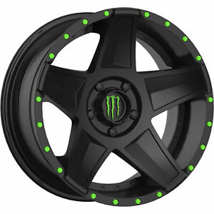 22x9 5 Black Wheel Monster Energy 648b 5x150 18