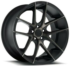 Qty4 19 Staggered Niche M130 Targa Black Machined Wheels And Tires