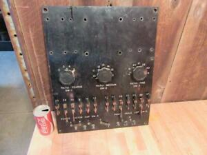 Antique Electrical Switch Board W 13 Copper Knife Switch Steampunk Art 16 X 20