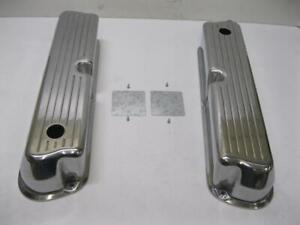 Small Block Ford 302 Tall Ball Mill Polished Aluminum Valve Covers 289 351w 5 0