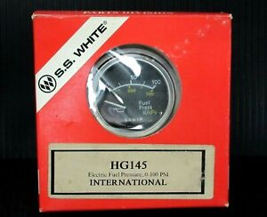 New Ss White Electric Fuel Pressure International 0 100 Psi Hg145