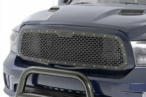 Rough Country Custom Mesh Grille Fits 2013 2018 Dodge Ram 1500 Black Powdercoat