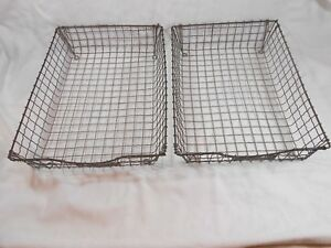 Vintage Acme Wire Letter Trays Lot Of 2