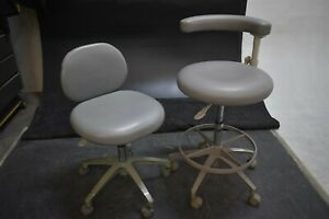 Lot Of 2 Pelton Crane Dental Furniture Stools For Operatory Patient Seating