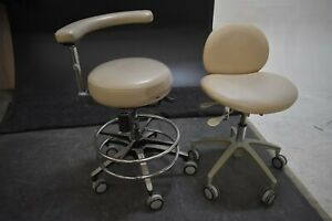 Lot Of 2 Used Adec Dental Furniture Stools For Operatory Patient Seating