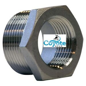 316 Stainless 4 Male X 1 Female Npt Hex Reducer Bushing Ss Coyote Gear