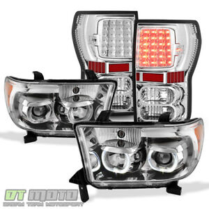 For 2007 2013 Toyota Tundra Chrome Projector Headlights Led Tail Lights Lamps