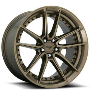 Qty4 19 Staggered Niche M222 Dfs Bronze Wheels And Tires