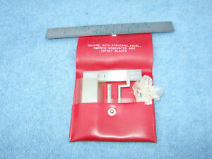Starrett 453 e Diemakers Square Vintage Usa Toolmaker 5 Pieces Red Plastic Case