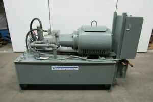 60hp 100gal Hydraulic Power Unit Oilgear Pvwh34 Heat Exchanger 34gpm 4000psi Max