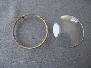 Vintage Curved Glass Striped Golden Metal Frame For Miniature Or Picture 2