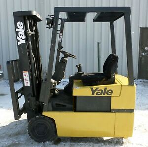 Yale Erp030tg 2004 3000 Lbs Capacity Great 3 Wheel Electric Forklift
