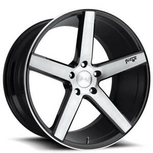 4 Set 19 Staggered Niche M124 Milan Brushed Black Wheels And Tires