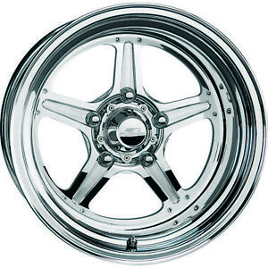 15x15 Polished Wheel Billet Specialties Street Lite Standard 5x4 75 114
