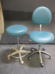 Lot Of 2 Brewer Dental Furniture Stools For Dentistry Operator Operatory Seating