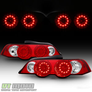 2002 2003 2004 Acura Rsx Dc5 Lumileds Led Red Clear Tail Lights Lamps Left Right