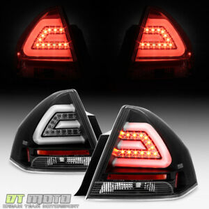Black 2006 2013 Chevy Impala Led Tail Lights Brake Lamps Left Right Pair