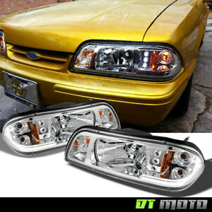 1897 1993 Ford Mustang 1pc Led Headlights W Built In Corner Parking Signal Lamps