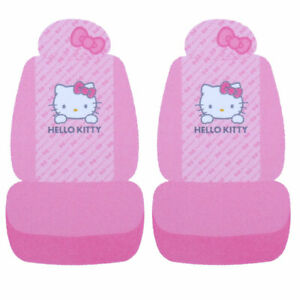 Sanrio Hello Kitty Front Car Seat Cover 2pc Set Low Back Pink