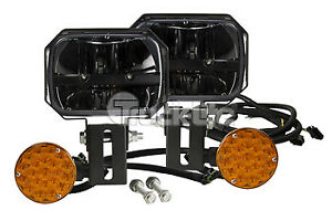 Truck lite 80875 Led 5 X 7 Rectangular Snow Plow Lights Kit 1300 Lumens 9 33v