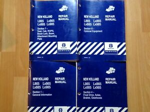 New Holland L865 Lx865 Lx885 Lx985 Skid Steer 4 Sections Of Repair Manual Oem