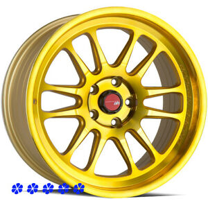 Aodhan Ah07 Wheels Gold 18 30 Staggered Rims 5x114 3 05 09 11 Ford Mustang Gt