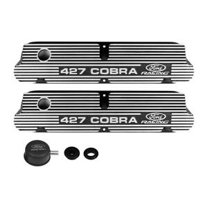 Ford Performance Valve Covers Finned Black 427 Cobra Ford Racing 289 302 351w