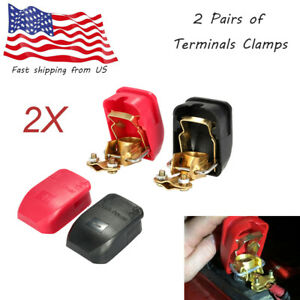 2pair 12v Quick Release Battery Terminals Clamps For Caravan Boat Motorhome D1a0