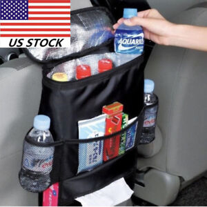 Outdoor Car Back Seat Cooler Bag Organiser Multi Pocket Cooler Storage Bags Rt