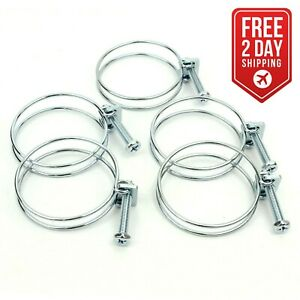 Big Horn 11725bx 2 1 2 inch Wire Hose Clamp For Dust Collection 50 Pack