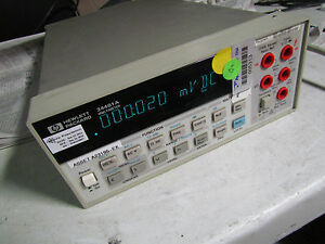 Agilent Hp 34401a Digital Multimeter 6 1 2 Digit Dmm 30 Days Warranty