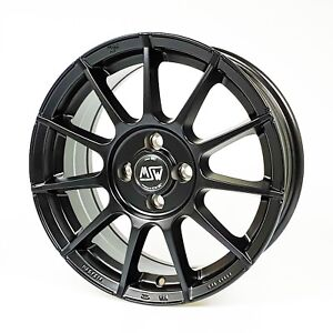 Msw Alloy Wheels Smart Fortwo 453 All Season Tyres Vredestein 16 Black