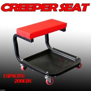 Creeper Seat Mechanic Stool Storage Tool Tray For Garage Rolling Scooter Auto