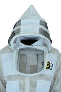 Bee Safety Wears 3 Layer U V Beekeeper Beekeeping Jacket Fencing Veil X large