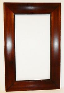 Antique Walnut Ogee 16x25 Picture Frame With Beaded Edge