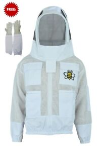 Ultra Ventilated 3 Layer Bee Beekeeper Beekeeping Jacket Fencing Veil Xlarge
