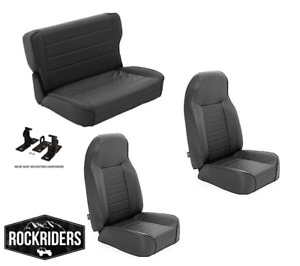 Pre Order 1976 1995 Jeep Wrangler Cj7 Front And Rear Complete Seat Combo Set