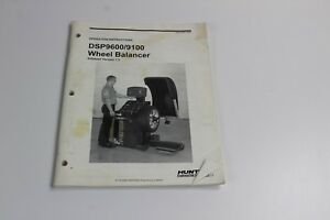 Hunter Operation Instructions Dsp9600 9100 Wheel Balancer Software Version 1 3