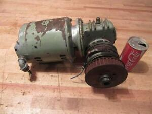 Used Normand 1 2 Hp 3 Ph Gear Reduction Electric Motor 276 Rpm Electro Clutch