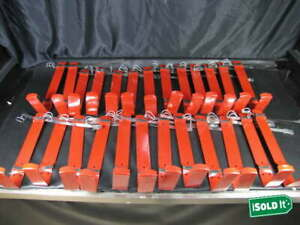 20 10lb Quick Release Red Fire Extinguisher B12 Abc Wall Mount Bracket Strap Lot
