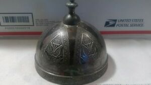 Vintage Ornate Silver Plate Cover Finial Ornate Detail Etched 5 X4 5 Lampshade