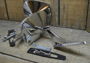 New Pair 1964 72 Chevy El Camino Chrome Side View Mirrors Left Right Vtg Style