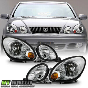 For 1998 2005 Lexus Gs300 Gs400 Gs430 Headlights Headlights Left right 98 05 Set
