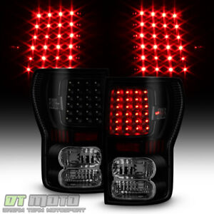 For 2007 2013 Toyota Tundra Led Black Smoke Tail Lights Brake Lamps Left Right
