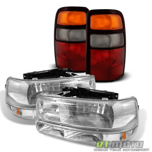 For 2004 2006 Chevy Suburban 1500 2500 Tahoe Headlights bumper Lights tail Lamps